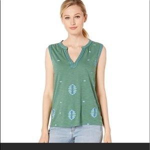 NWT lucky Brand Aztec tank top. Green. Size M